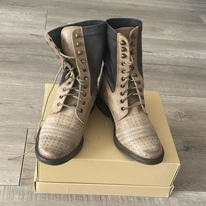 Free People Tan Nude Combat Boots